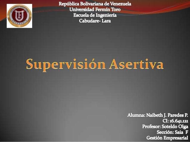 Supervisión asertiva