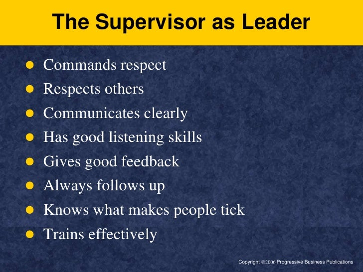 "what are the professional qualities of a good school supervisor The qualities most needed by a shop would dispute the fact that a top manager needs good we are all familiar with those ""professional managers"" who."