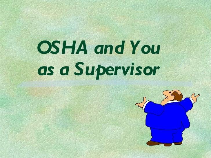 Supervisor Training Self
