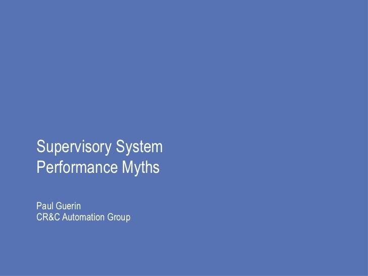Automation system performance myths