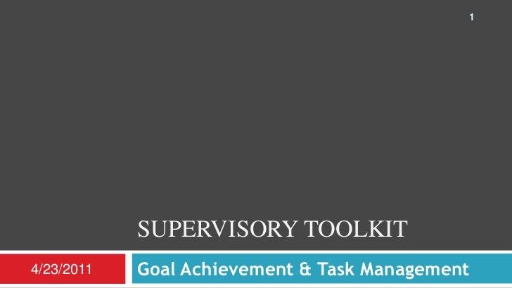 Supervisory Toolkit - Goal Achievement & Task Management