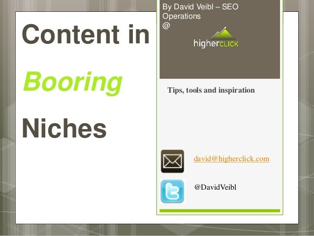 By David Veibl – SEO             Operations             @Content inBooring       Tips, tools and inspirationNiches        ...