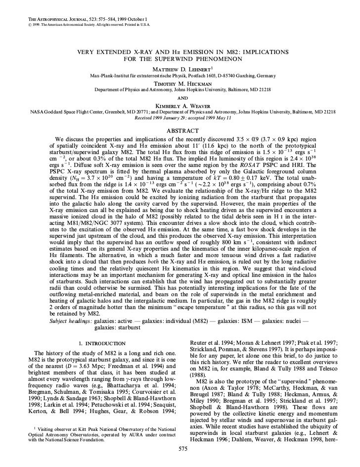 THE ASTROPHYSICAL JOURNAL, 523 : 575È584, 1999 October 1( 1999. The American Astronomical Society. All rights reserved. Pr...