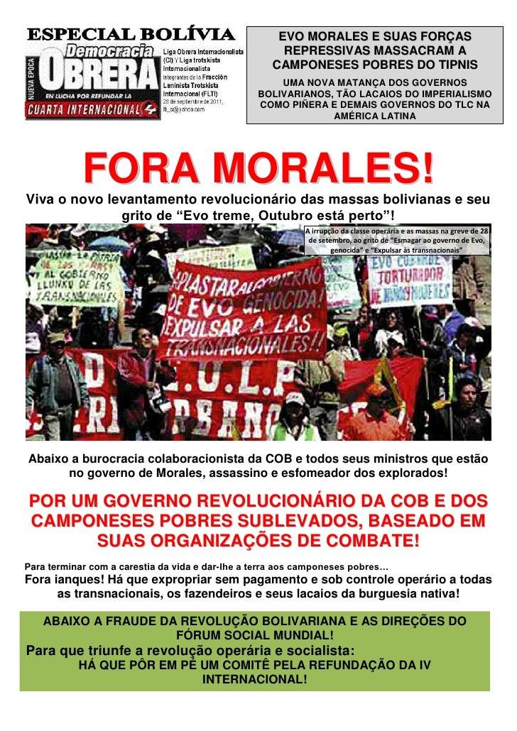 EVO MORALES E SUAS FORÇAS                                                      REPRESSIVAS MASSACRAM A                    ...