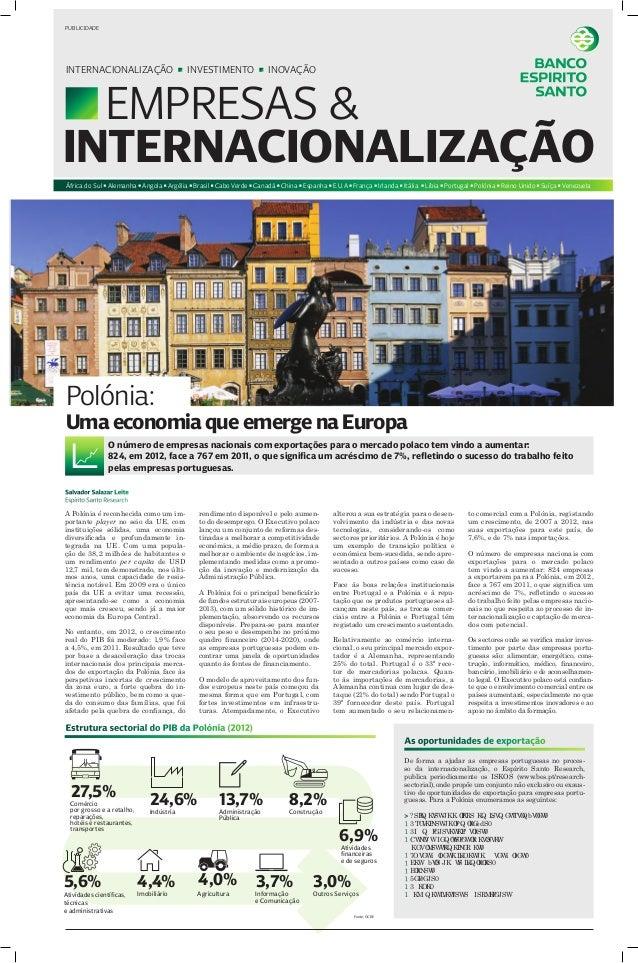 PUBLICIDADE  INTERNACIONALIZAÇÃO  INVESTIMENTO  INOVAÇÃO  EMPRESAS & INTERNACIONALIZAÇÃO África do Sul Alemanha Angola Arg...