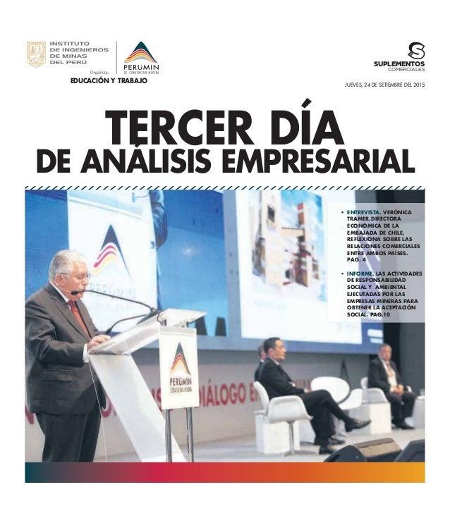 EDUCACIÓN Y TRABAJO TERCER DÍA DE ANÁLISIS EMPRESARIAL JUEVES, 24 DE SETIEMBRE DEL 2015 ENTREVISTA. VERÓNICA TRAMER,DIRECT...