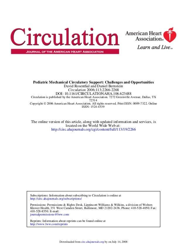 Suporte circulatório em pediatria - Circulation