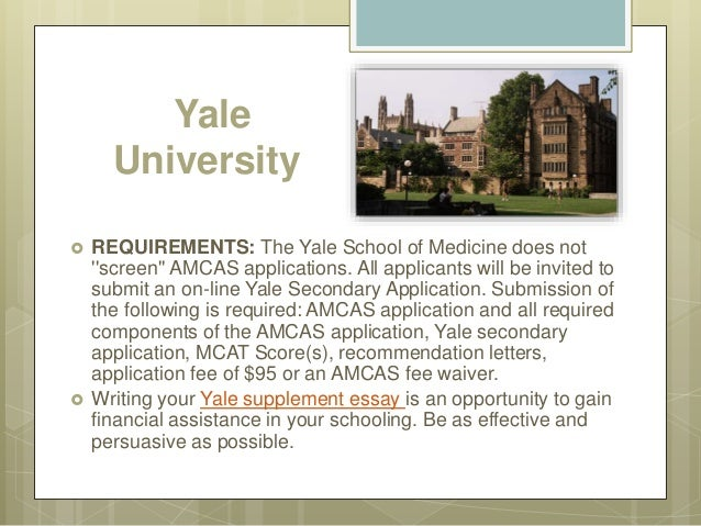 yale application essay