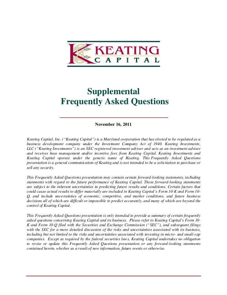 Frequently Asked Investing Questions from Keating Capital