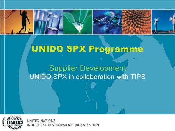 UNIDO SA: Supplier development