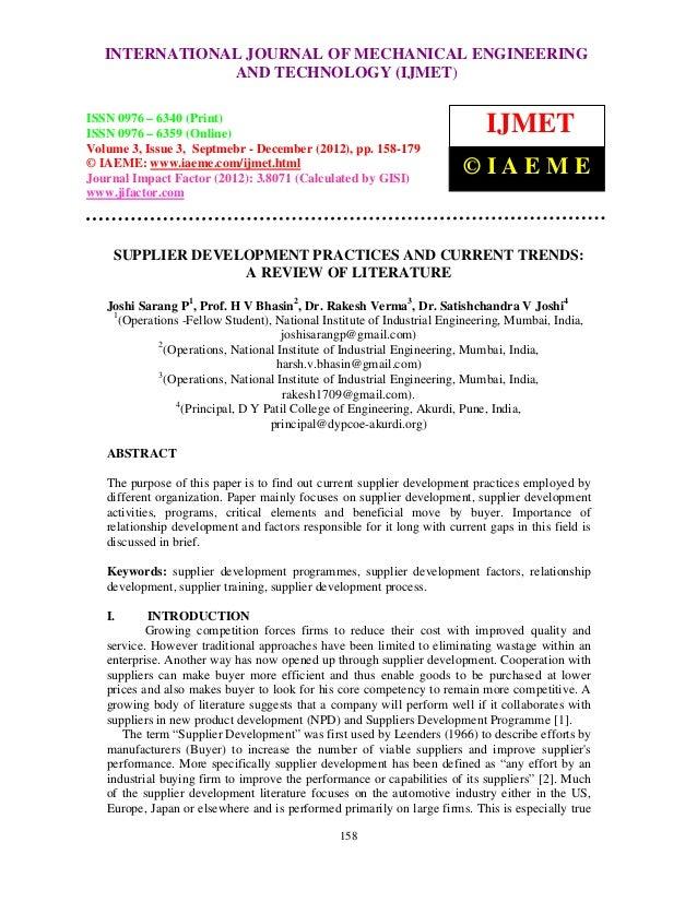INTERNATIONAL Mechanical Engineering and TechnologyENGINEERING   International Journal of JOURNAL OF MECHANICAL (IJMET), I...