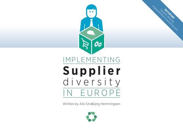 Supplier diversity in Europe