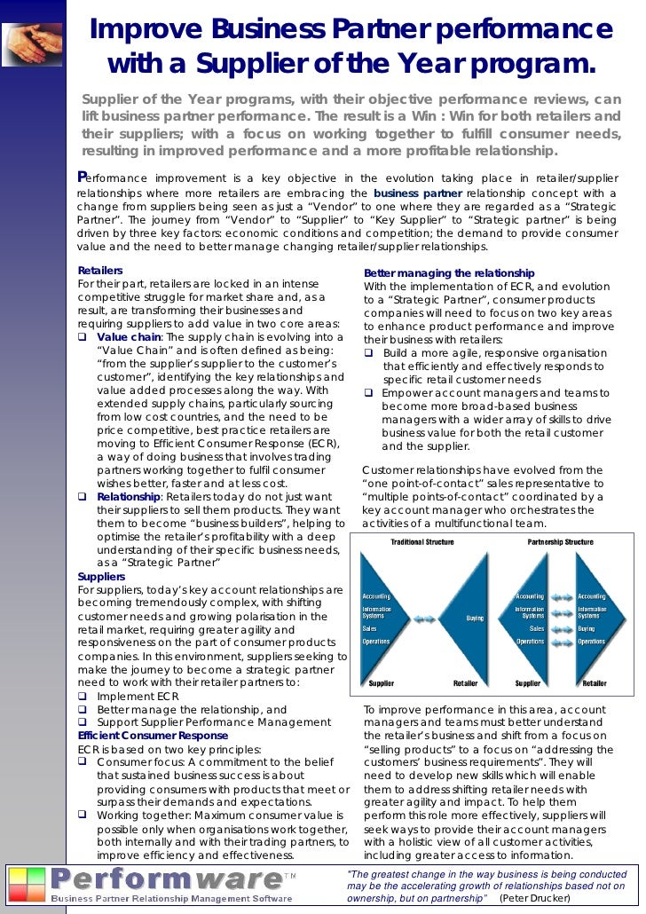 Supplier Of The Year   White Paper