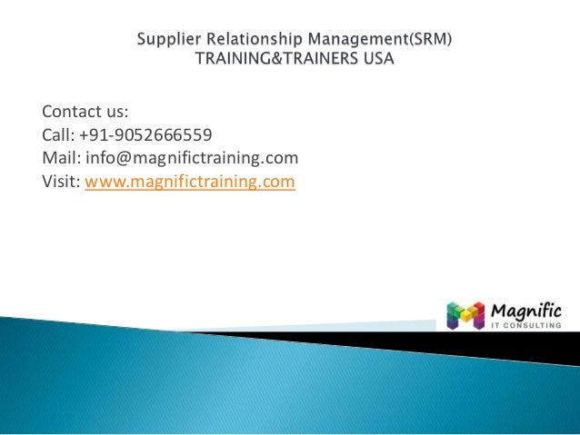 Contact us: Call: +91-9052666559 Mail: info@magnifictraining.com Visit: www.magnifictraining.com
