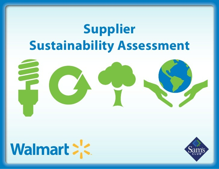 Supplier Sustainability Assessment