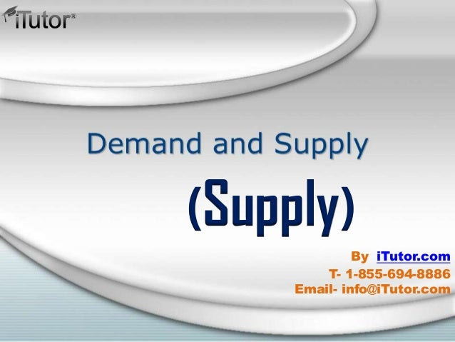 (Supply) T- 1-855-694-8886 Email- info@iTutor.com By iTutor.com