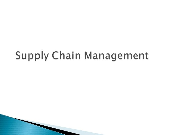 •   Value Chain•   Supply side- raw materials, inbound logistics    and production processes•   Demand side- outbound logi...