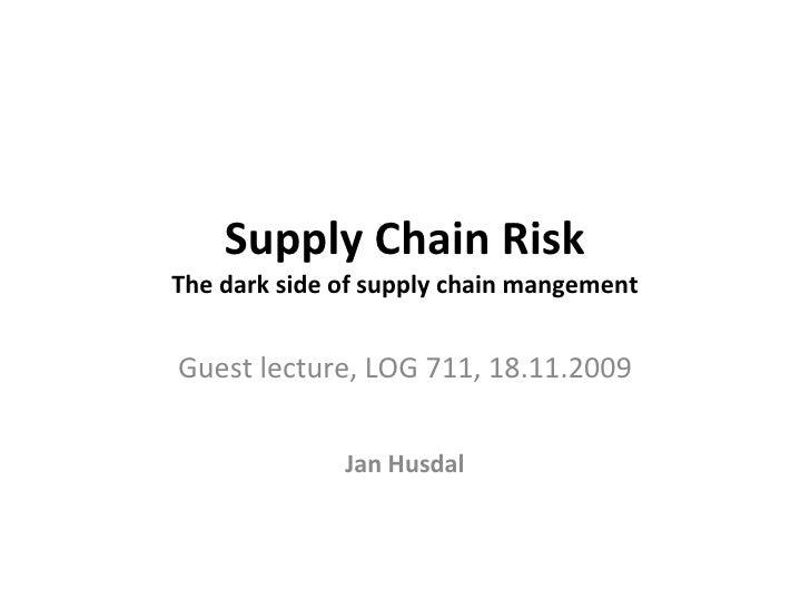 Supply Chain Risk 2009