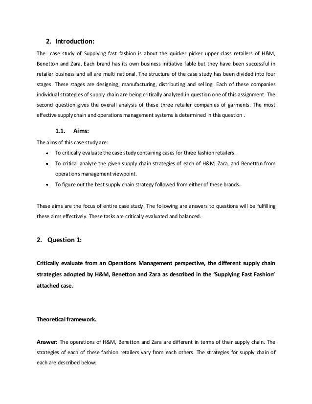 Zara fast fashion case analysis paper 12