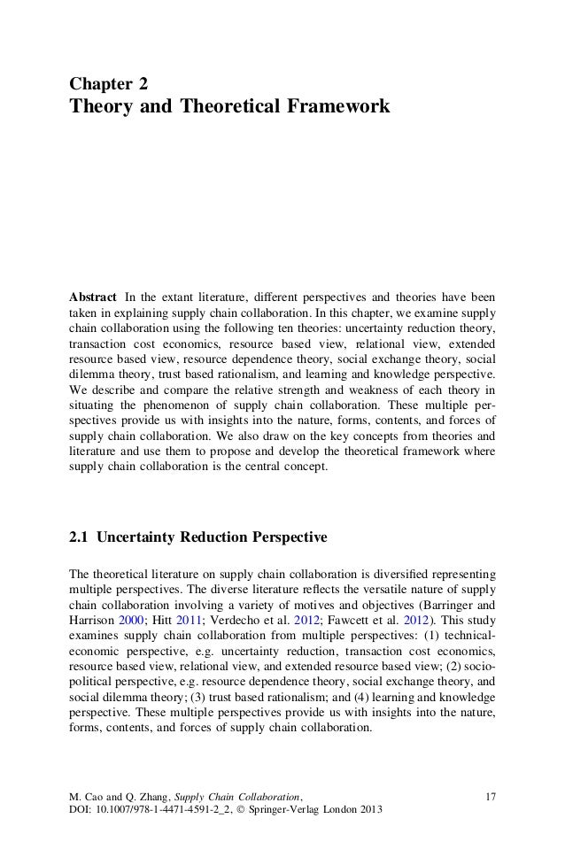 Chapter 2Theory and Theoretical FrameworkAbstract In the extant literature, different perspectives and theories have beent...