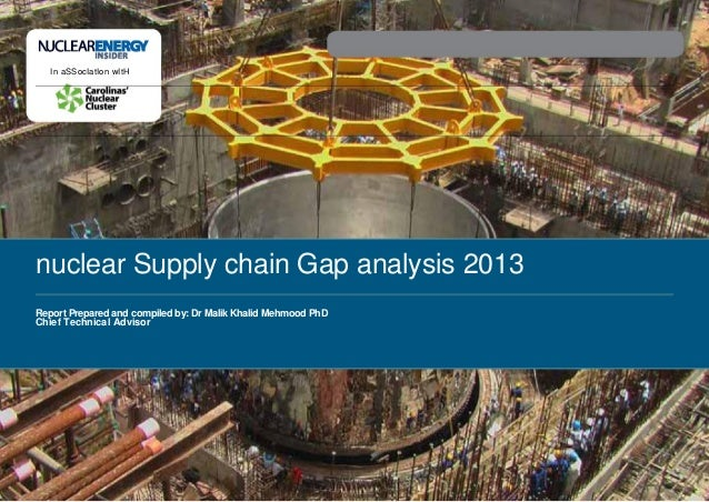 In aSSocIatIon wItHnuclear Supply chain Gap analysis 2013Report Prepared and compiled by: Dr Malik Khalid Mehmood PhDChief...