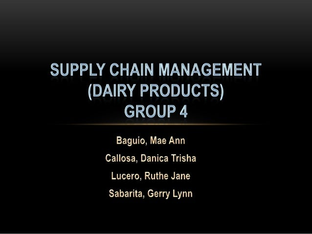 Supply chain of dairy