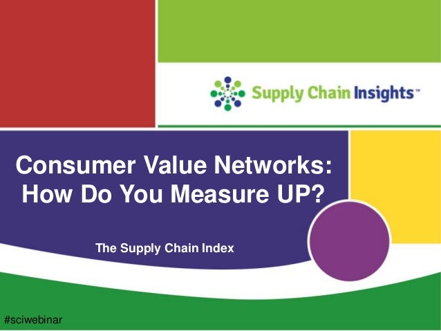 Consumer Value Networks: How Do You Measure UP? The Supply Chain Index #sciwebinar