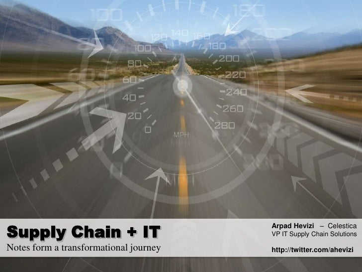 Supply Chain It Convergence MBA talk