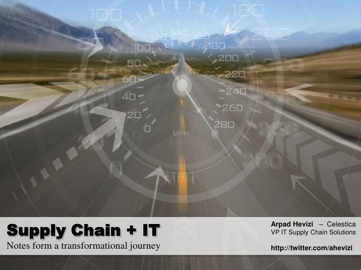 Supply Chain It Convergence MBA talk
