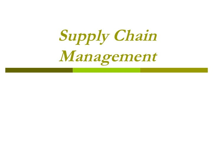 Supply chain management UDELP
