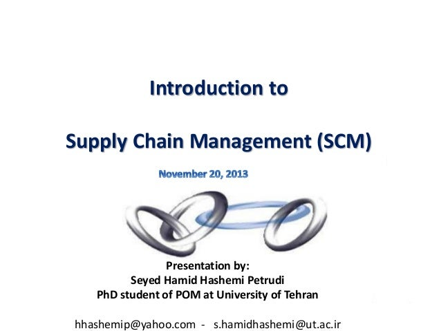 Supply chain management phd thesis