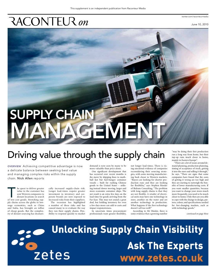 Supply chain management  june10