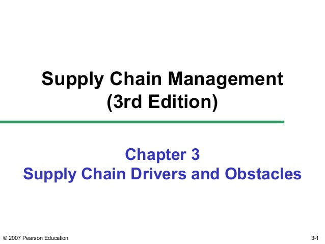 Supply chain management ch03 chopra