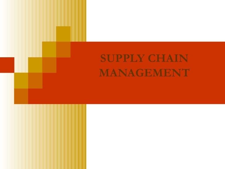 Supply chain management ii mft