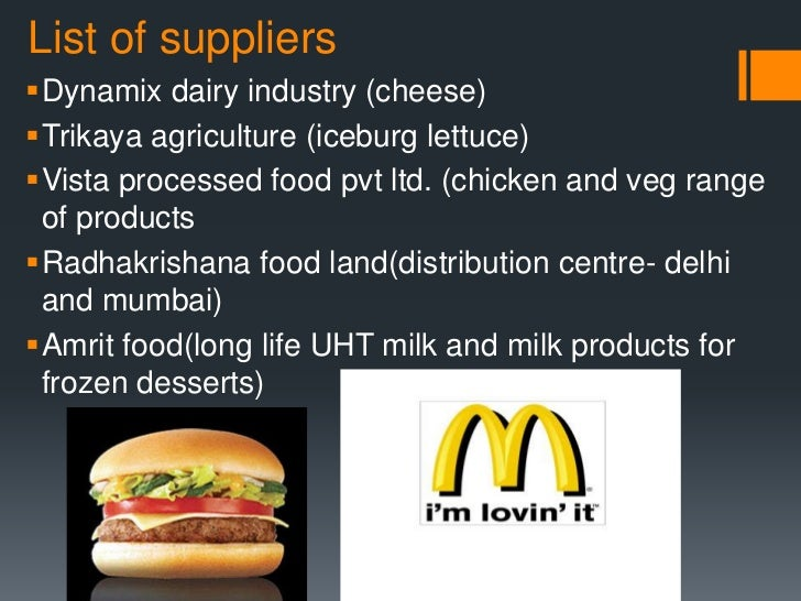 "logistics and supply chain management at mcdonalds management essay Global logistics and supply chain management you are part of an asian-pacific conference advisory team to organize a conference about ""global logistics and supply chain management (glscm)."