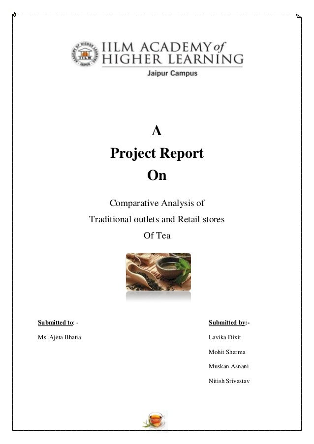 A                        Project Report                                  On                        Comparative Analysis of...