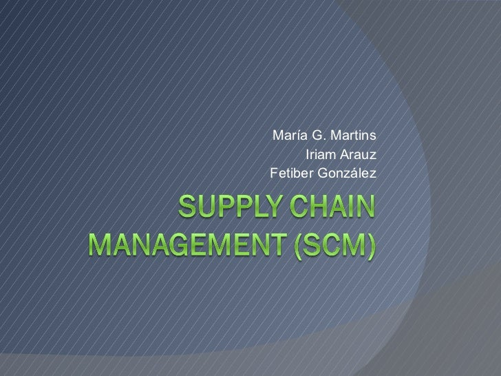 Asignación 5 - Seminario: Supply Chain Management (SCM)