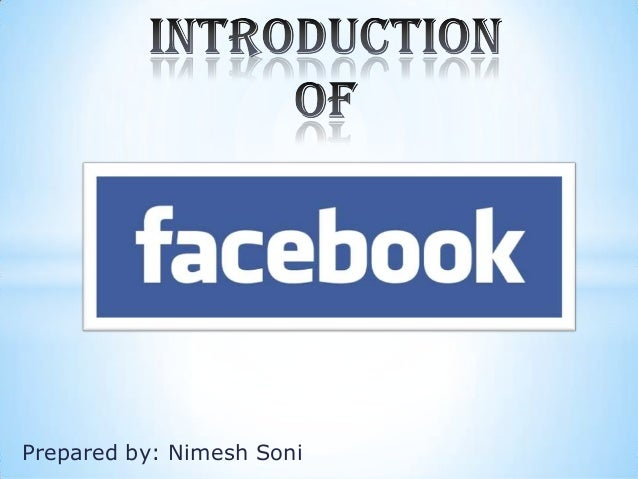 introduction of facebook