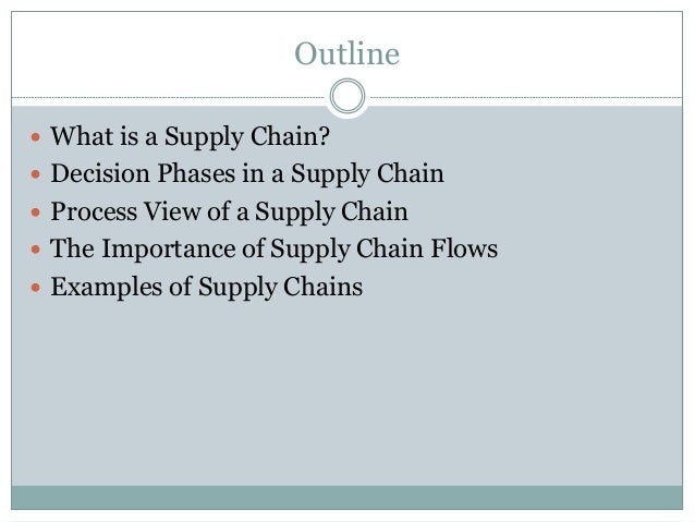 Logistics and Supply Chain Management examples of order of service