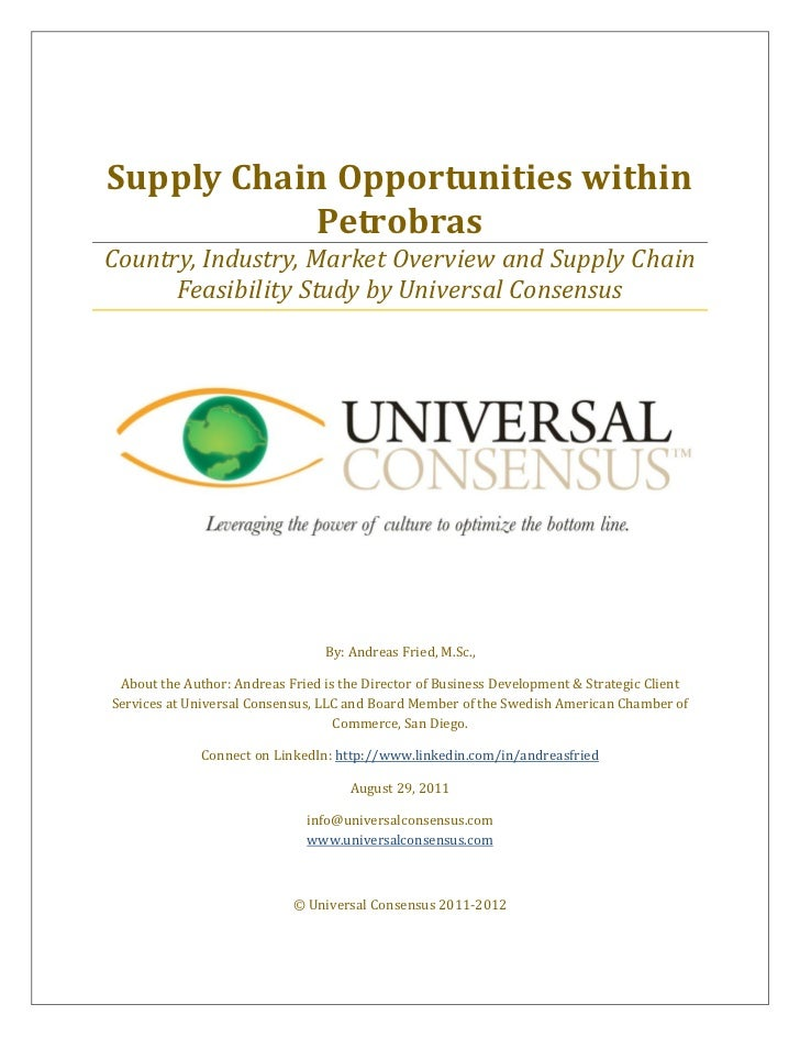 Supply Chain Opportunities within            PetrobrasCountry, Industry, Market Overview and Supply Chain      Feasibility...