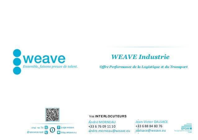 WEAVE Industrie                                     Offre Performance de la Logistique et du Transport                    ...