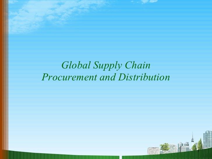 Supply chain procurement ppt @ DOMS