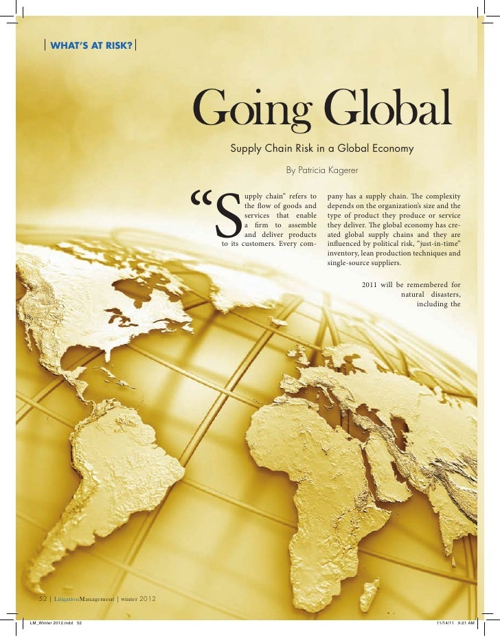 What's At Risk?                                             Going Global                                                Su...