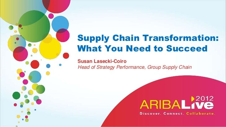 Supply Chain Transformation:What You Need to SucceedSusan Lasecki-CoiroHead of Strategy Performance, Group Supply Chain