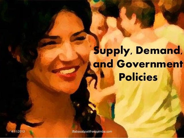 4/11/2013 Babasabpatilfreepptmba.com Supply, Demand, and Government Policies