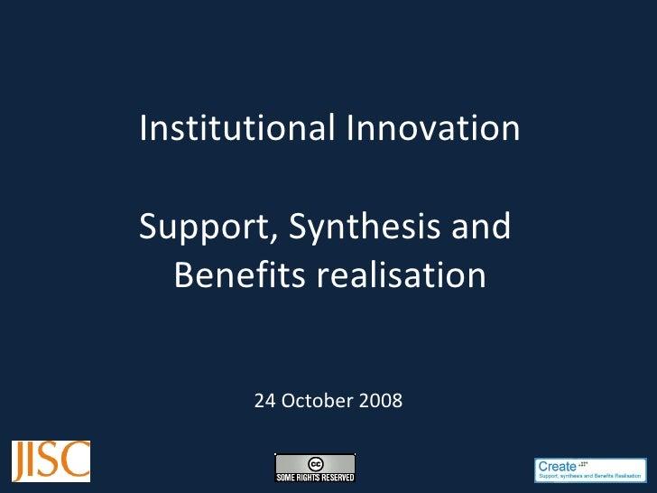 Support Project Presentation  Inst Innovation