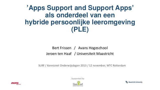 Apps Support and Support Apps - Bert Frissen en Jeroen ten Haaf - OWD13