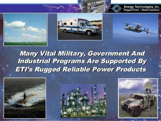 Many Vital Military, Government AndMany Vital Military, Government And Industrial Programs Are Supported ByIndustrial Prog...
