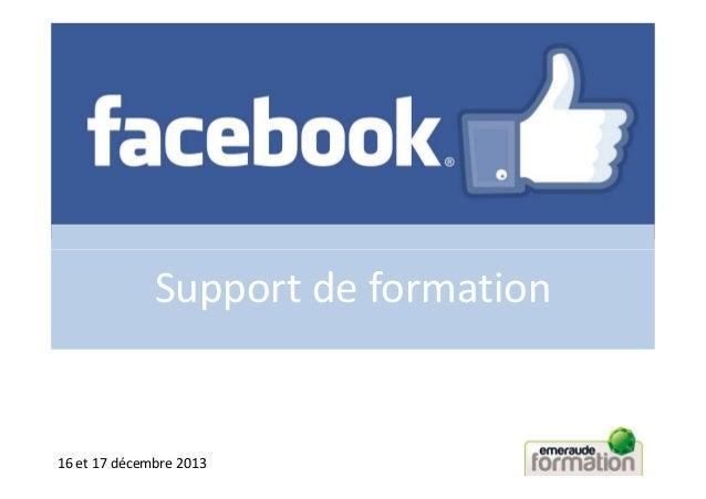 Support de formation  16 et 17 décembre 2013