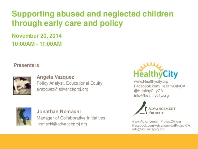Supporting Abused and Neglected Children Through Early Care and Policy